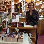 Laura Moore at Books on the Square, signing copies of her newest release, Once Touched.