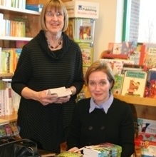 Laura Moore with Betsey Detwiler, owner of Buttonwood Books.