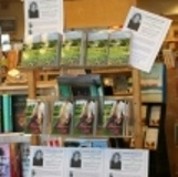 Laura's book display at Buttonwood Books.